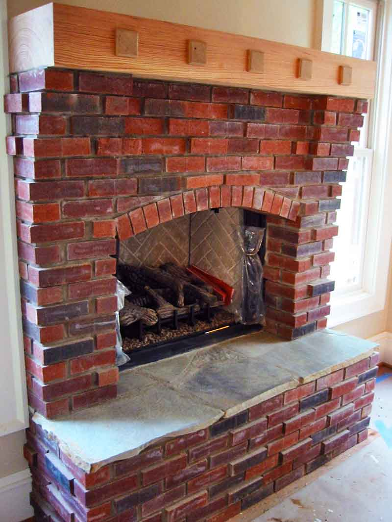 Inside Fireplace Brick Stone