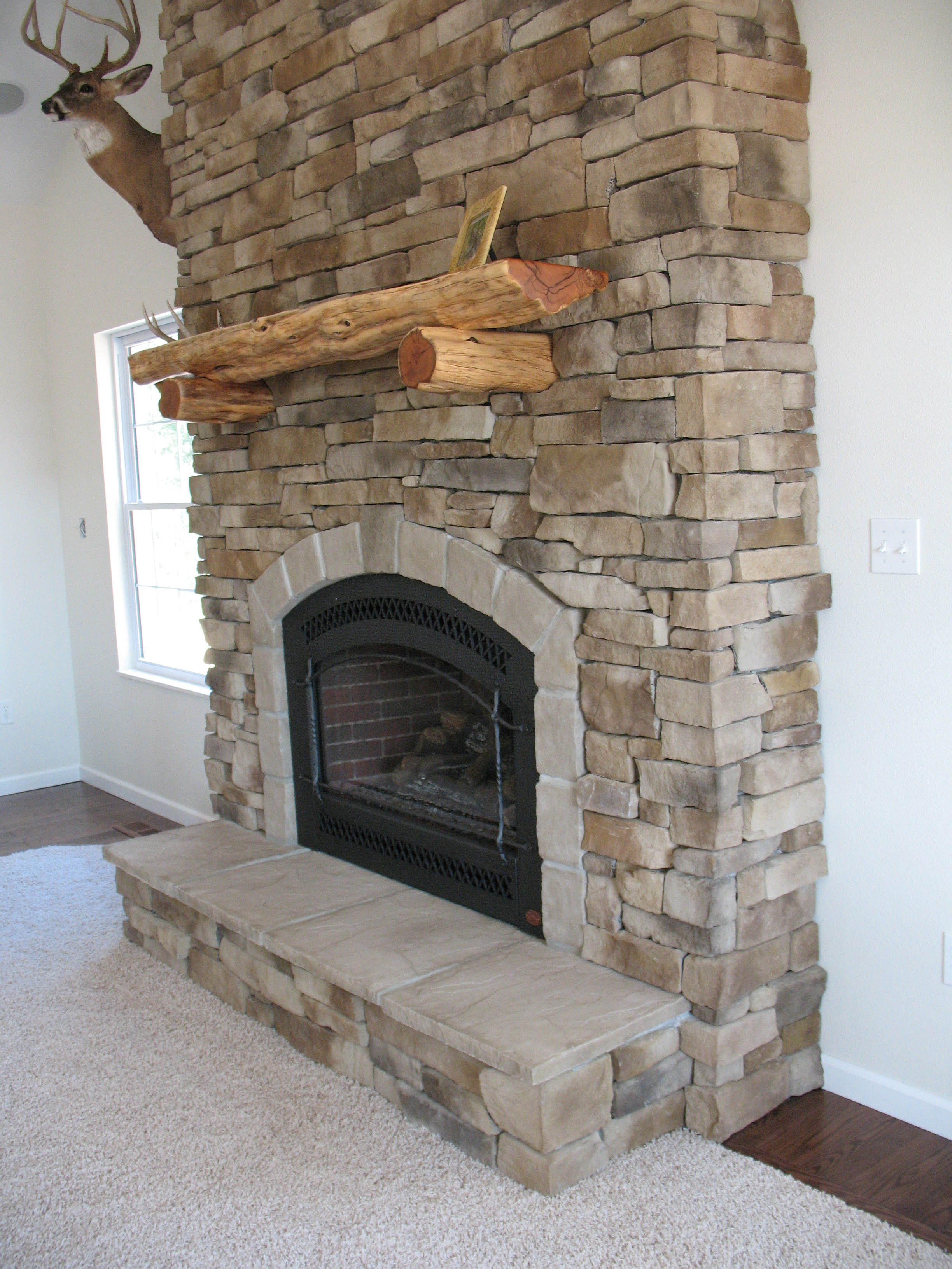 Inside fireplaces  have typically been brick or stone. Fireplaces provide warmth and comfort