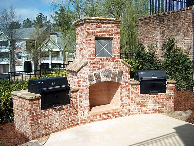 Outdoor Fireplaces are all the rage now. Let Huntsville Brick & Stone make your backyard a center for  entertainment. Call Jordan at (256) 804-0025 today.